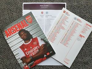Arsenal-v-Leicester-City-PREMIER-LEAGUE-24-10-2020-Programme-with-Teamsheet