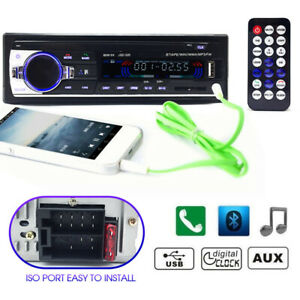 Car-Bluetooth-In-dash-Radio-Stereo-Audio-Head-Unit-Player-MP3-USB-SD-AUX-IN-FM