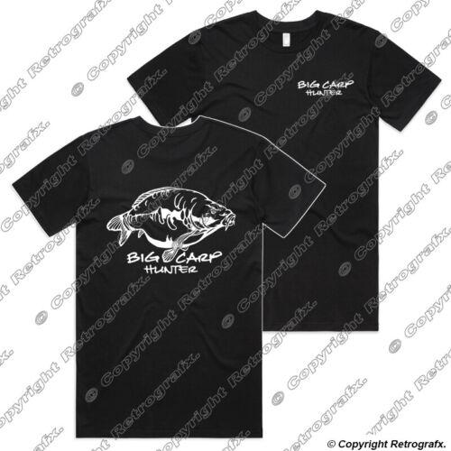 Big Carp Hunter Angling Fishing T-shirt catfish perch pike Birthday Gift tee B