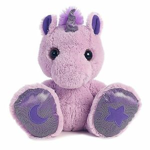 "10"" Taddle Toes Skywriter Purple Unicorn Plush Stuffed Animal Toy - New"