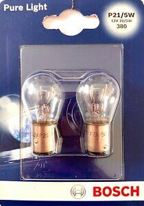 Bosch P21/5W PURE LIGHT 12V 21/5W Glühbirne Lampe Schlusslicht Auto 1987301016