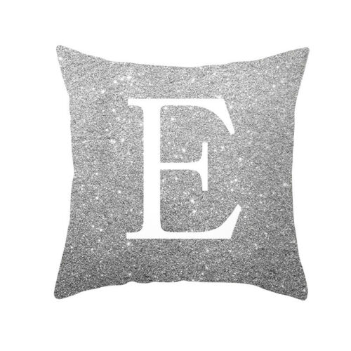 A-Z Letters Cushion Throw Pillow Case Cover Home Sofa Bed Decor 45*45cm UK
