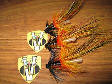 """3 Vainer's Ultimate Wille Gunn Pot Belly Pig Shrimp 3/4"""" Tube V Flies & Hooks"""