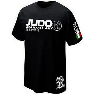 T-SHIRT-ITALIA-JUDO-JAPAN-COMBAT-SPORTS-Jersey-Siebdruck