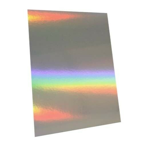 A4 Silver Mirror /& Holographic Card luxury mirror products DEAL OFFER SALE