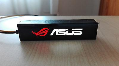 Logo iluminado para pc de ASUS led, GTX 1070, 1060, 970, 960, 1080, RX AMD