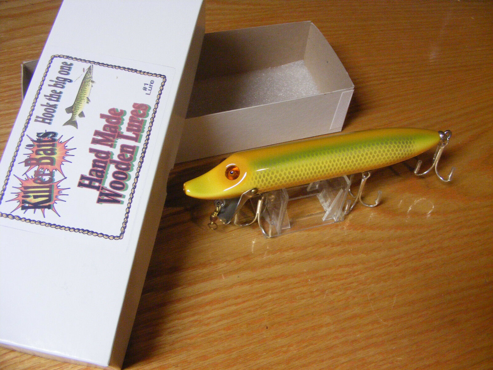 Killer Baits Rusty Jessee Heddon Style  8  Musky Glasseye Vamp Light Sienna Scale  looking for sales agent