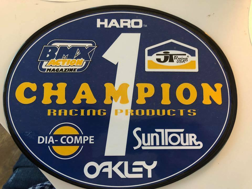 Old School OVAL  BMX Number plate by OGK JAPAN -CHAMPION BMX  after-sale protection