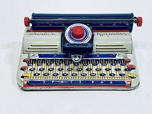 Vintage 1950's Marx Tin Metal Junior Typewriter Rare Toy Litho
