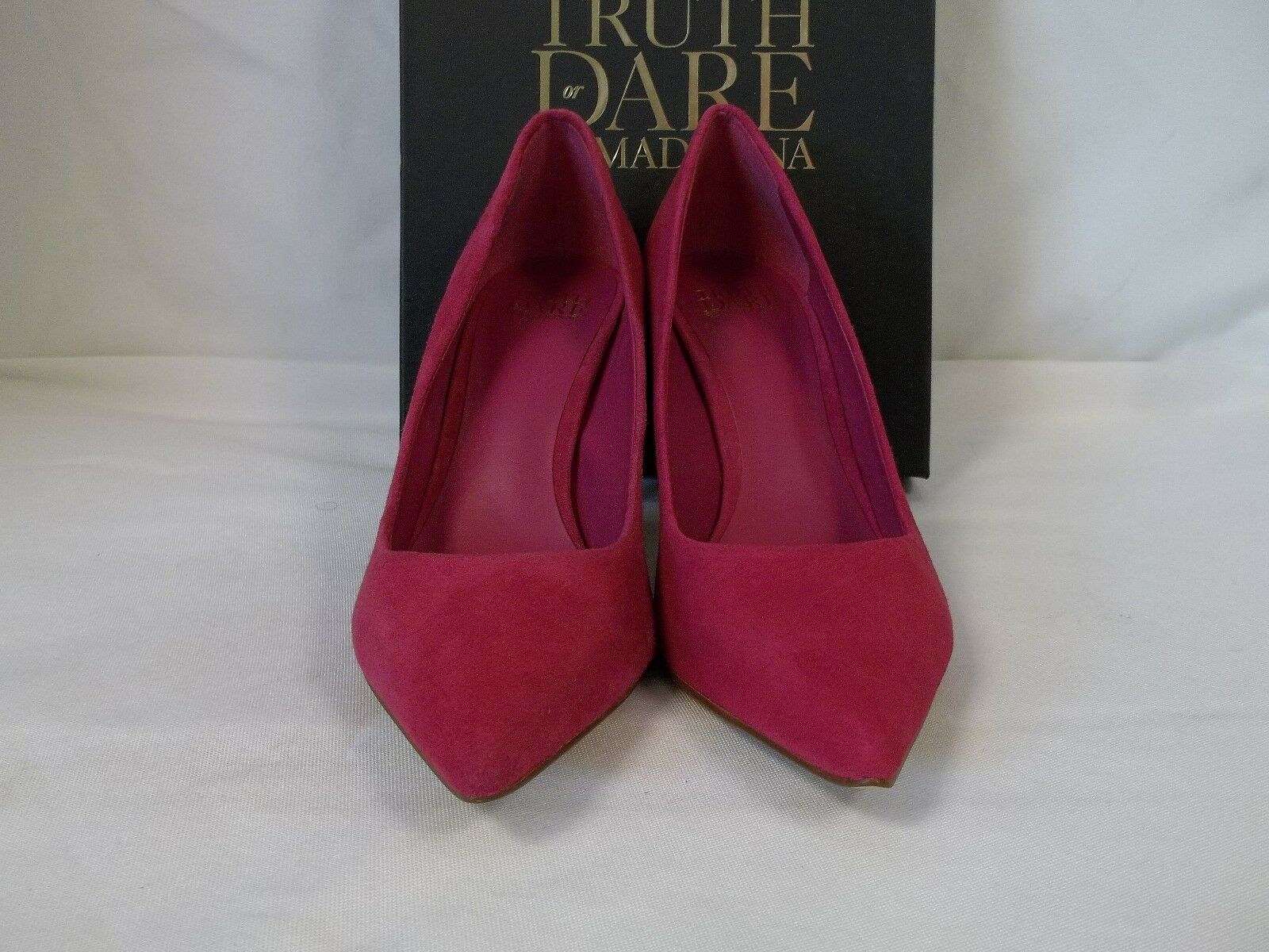 Truth Or Dare By MaDamens Größe 10 Heels M Omarah Fuchsia Suede Heels 10 New Damenschuhe Schuhes 785869