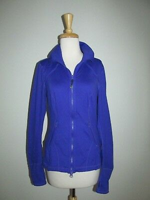 Adroit Zella Womens Size M Royal Purple Athletic Workout Stretch Zip Peplum Jacket