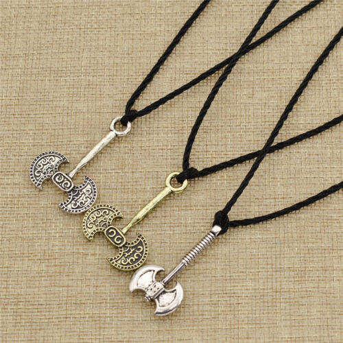 Slavic Double Head Axe Necklace Viking Men Pendants Norse Symbol Jewellery