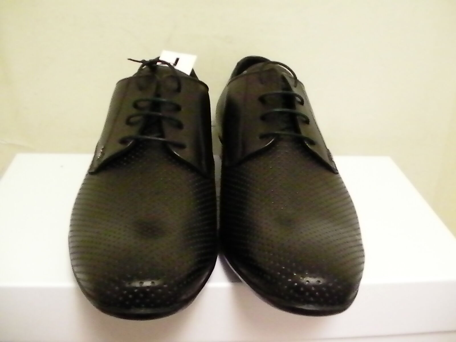Versace mens shoes dressing new collection leather black size 40 euro