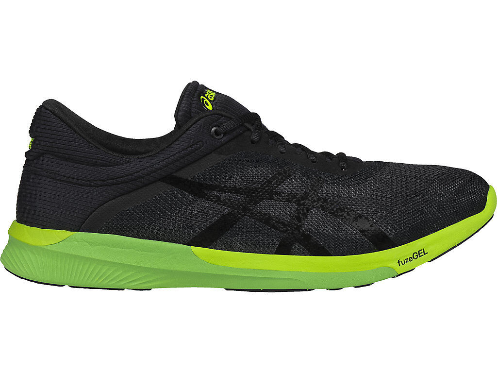 ASICS FUZEX FUZE X RUSH MENS D Medium Width Carbon Safety Yellow T718N NEW