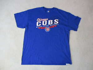 info for c23c7 fc83f Details about MLB Chicago Cubs Shirt Adult Extra Large Blue White Baseball  Cotton Mens