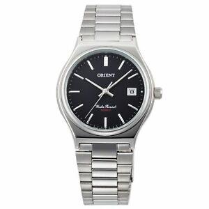Orient-modische-Armbanduhr-Herren-Uhr-mit-Edelstahl-Armband-Klappschliesse-Silber