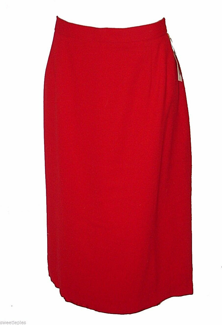 New Skirt, Doncaster, Red 100%-Wool Classic MSRP- 180.00  12