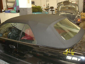 BMW-Cabrio-Convertible-Verdeck-Flicken-Reparatur-Set-Repair-Kit-Stoff-schwarz