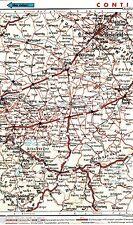 Hamm Üntrop Bielefeld Soest 1935 orig Autoatlas-Karte *Reichsautobahn in Planung