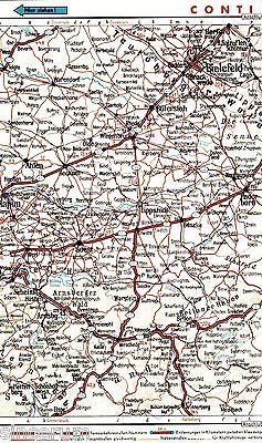 Hamm Üntrop Bielefeld Soest 1935 Orig Autoatlas-karte *reichsautobahn In Planung Grade Produkte Nach QualitäT