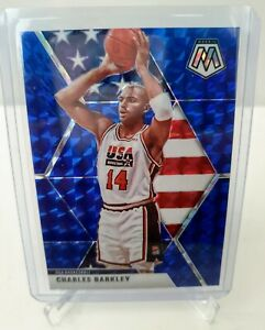 2019-20-Panini-Mosaic-Charles-Barkley-Blue-Prizm-99-USA-Basketball