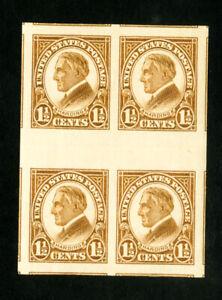 USA-TIMBRES-N-631-Gouttiere-Bloc-de-4-avec-horizontale-les-gouttieres-et-adjacentes-partiels