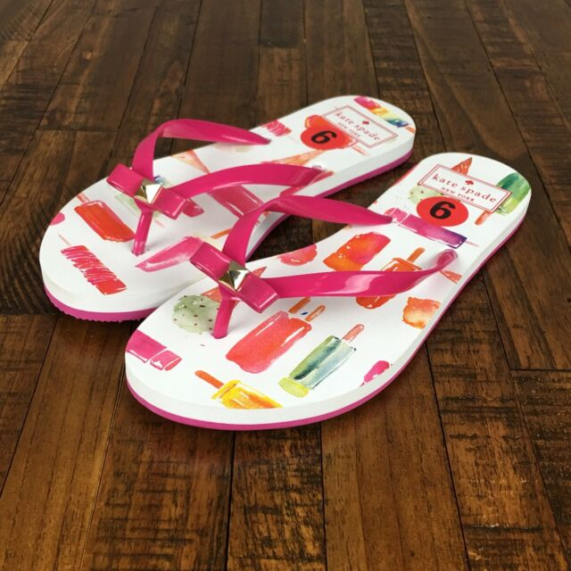 d4459b44626a Kate Spade Flip Flops Sandals Nadine Mini Popsicle Pink Ice Cream Womens  Size 6
