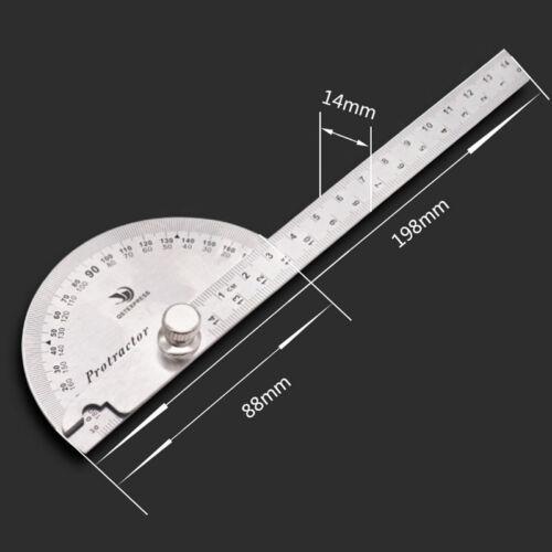 14.5cm 180 Degree Adjustable Protractor Angle Finder Craftsman Ruler Stainless S
