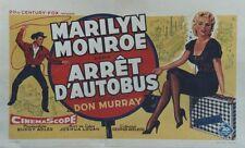 """""""ARRÊT D'AUTOBUS (BUS STOP)"""" Affiche belge entoilée (Marilyn MONROE, Don MURRAY)"""