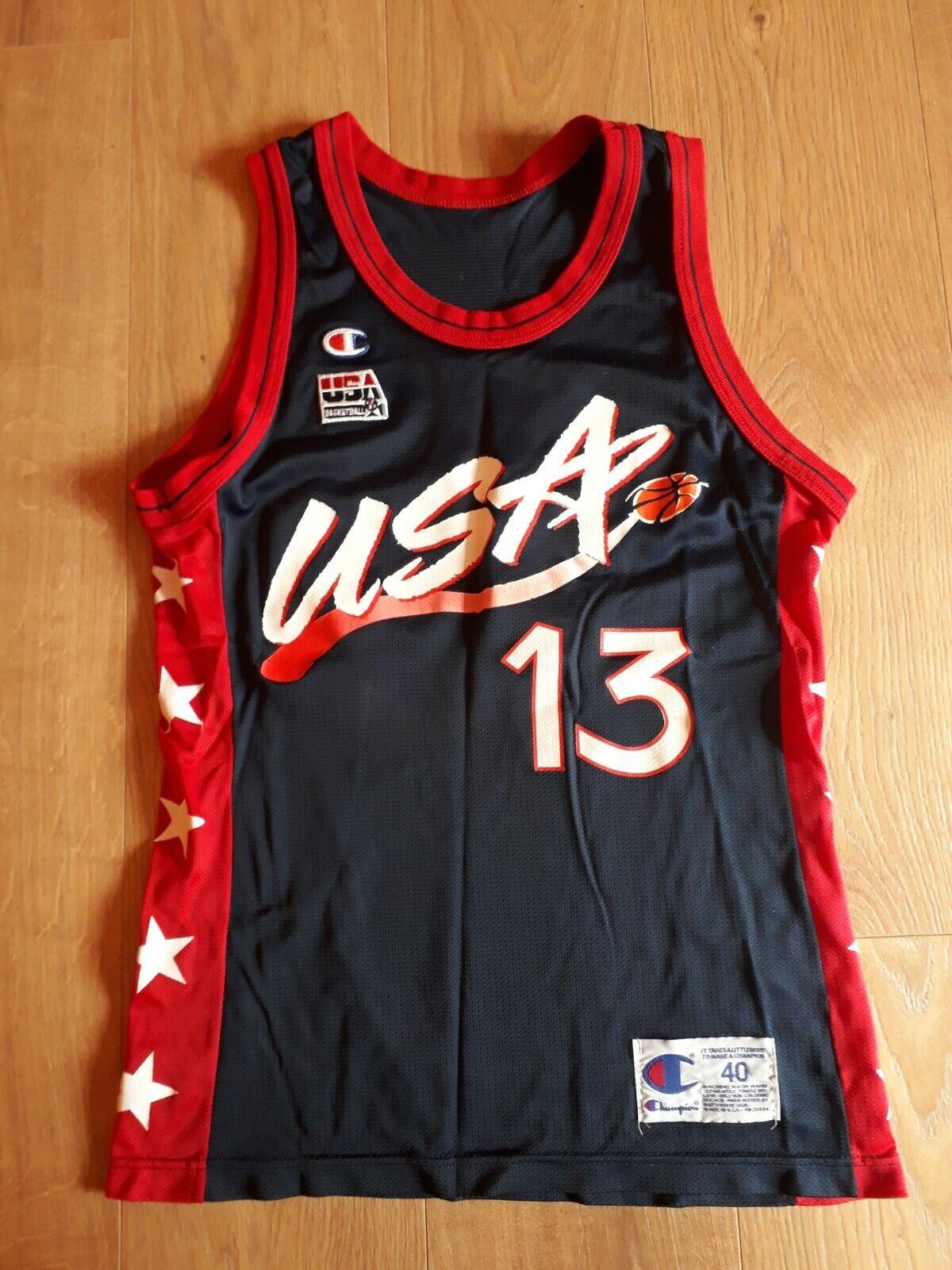 Champion Shaquille O'Neal USA Basketball Trikot 40 blau (Olympiade 1996)