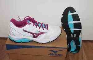 Mizuno-Vagues-Impetus-Femmes-Courir-Course-a-Pied-Chaussure-Blanc-Violet