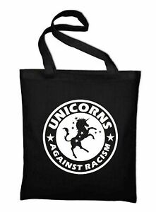 Unicorns Against Racism Jutebeutel Fun Gegen Rassismus Faschismus Jute Beutel