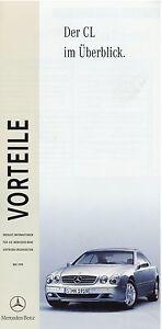 Mercedes-CL-Klasse-Vorteile-Uberblick-1999-5-99-Prospekt-brochure-broszura-Auto