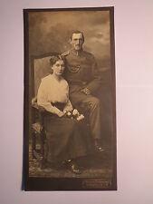 Karlsruhe i. B. - Frau & Soldat in Uniform - Eisenbahn-Regiment ? Kulisse / Foto