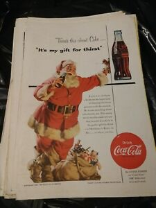 1954-Coca-Cola-PRINT-AD-SANTA-CLAUSE-034-IT-039-S-MY-GIFT-FOR-THIRST-034-CHRISTMAS-DECOR