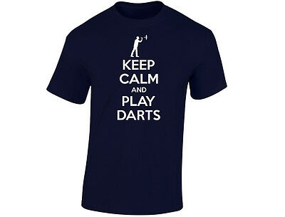 Aufstrebend Keep Calm And Play Darts Mens Funny T-shirt (12 Colours)