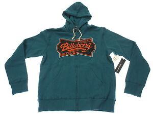Verkauf Einzelhändler mehrere farben Vielzahl von Designs und Farben Details zu BillaBong Herren Sweatjacke, Zip Hoodie, Kapuze, Größe M,  petrol, NEU
