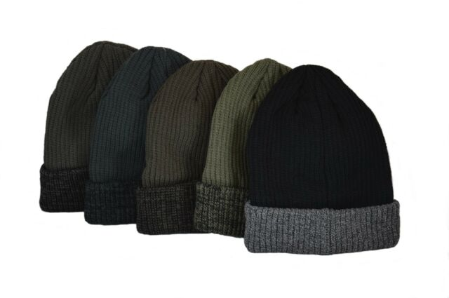 Adults Black Knit 3M Thinsulate™ Thermal Insulation Beanie Hat