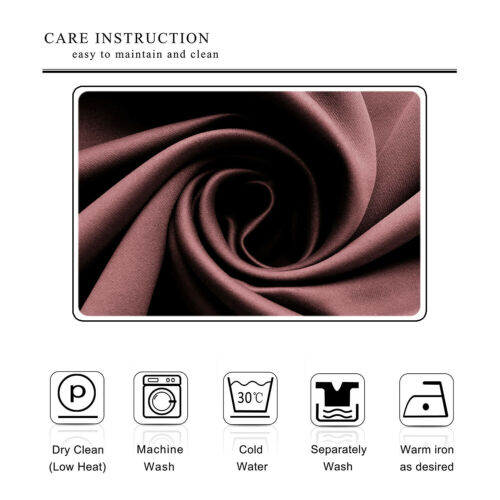 Pencil Pleat Insulated Thermal Blackout Small Window Curtain For Bedroom Kitchen