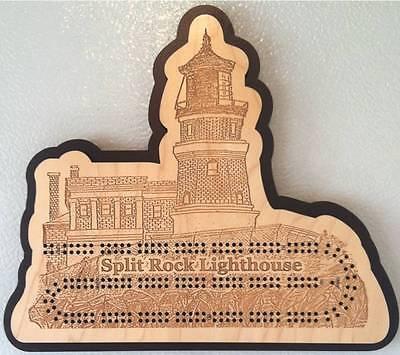 Split Rock Lighthouse Cribbage Board