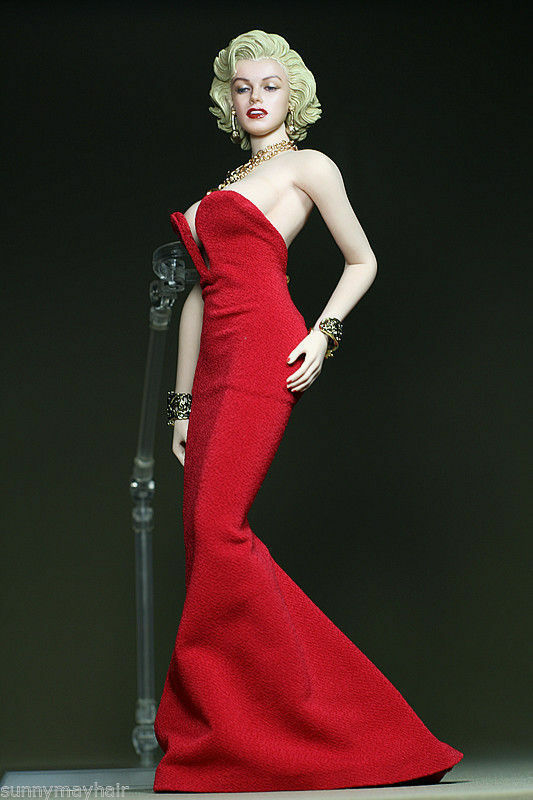 Marilyn Monroe Red Dress 1 1 1 6 Female Clothes For 12'' Phicen Big Chest Figure Toy d7dfb4