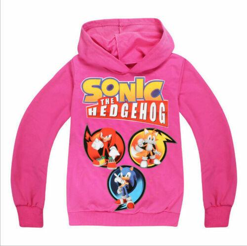 New Kids Boys Girls Sonic The Hedgehog Cartoon Hoodies Sweatshirt Top Clothes