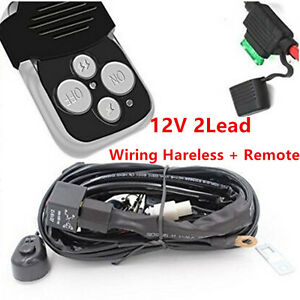 s l300 12v lead 40a remote control wiring harness kit switch relay led Off-Road Light Wiring Harness at n-0.co