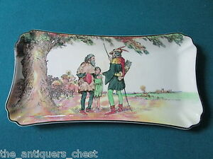 Royal-Doulton-Plate-from-Under-the-Greenwood-Tree-Robin-Hood-series-tray-186