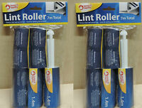 2 x 5 ROLLS LINT REMOVER STICKY BRUSH DUST FLUFF FABRIC PET DOG HAIR CLOTHES
