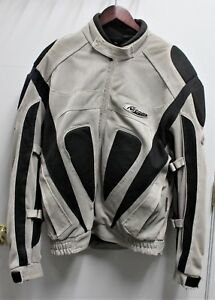 Nitro-Racing-Armored-Textile-Touring-Motorcycle-Jacket-RN-109869-Size-XL-Gray
