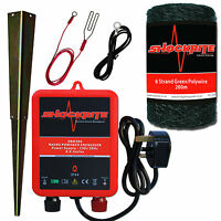 Electric Fence Energiser Mains Shockrite Srm306 0.6j + 200m Green Wire Polywire