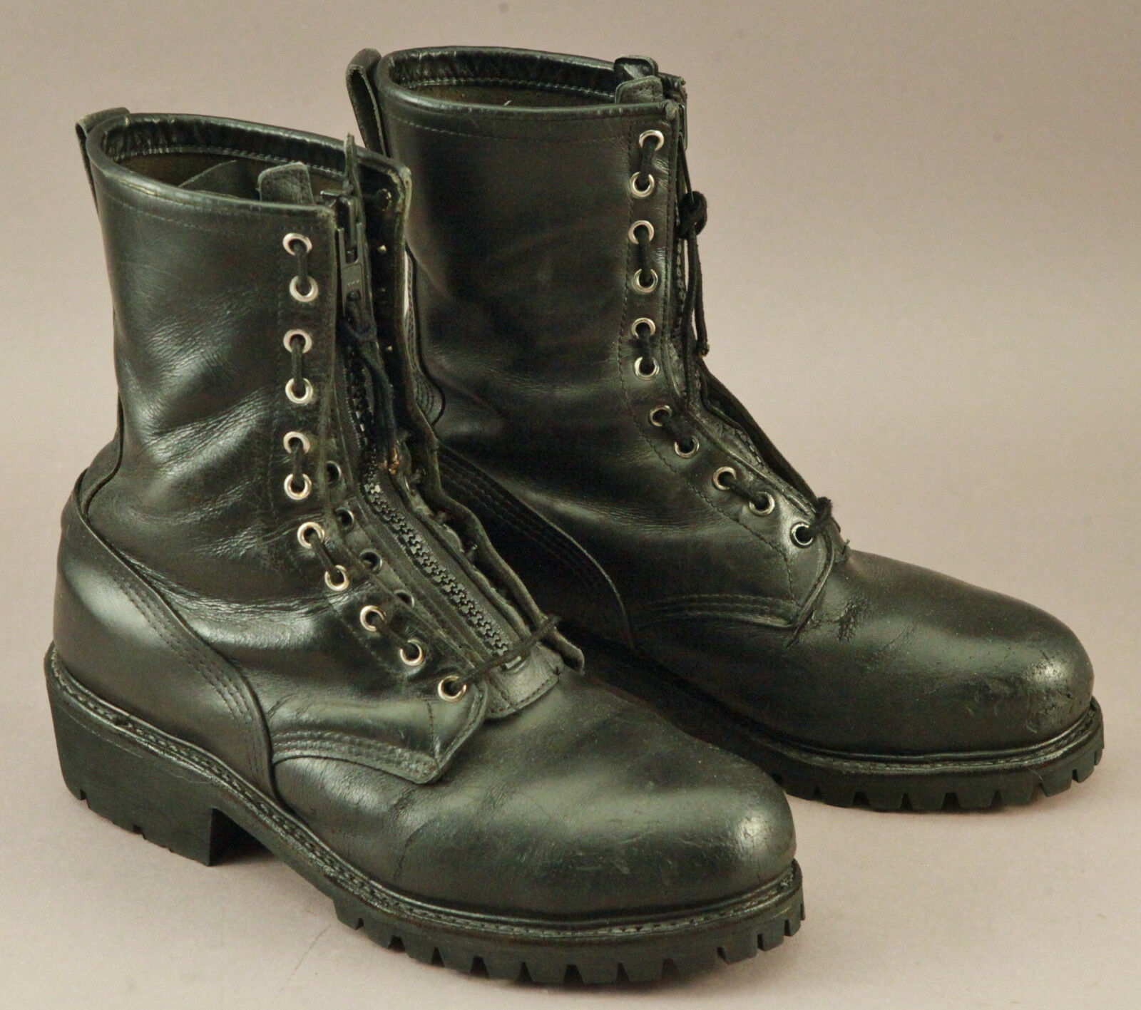 21b1fcc691e Vintage Red Wing boots black black black leather zip steel toe ...