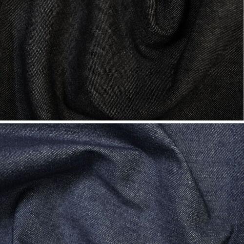 100/% Cotton Denim Fabric 7.5oz 283gsm Indigo or Black