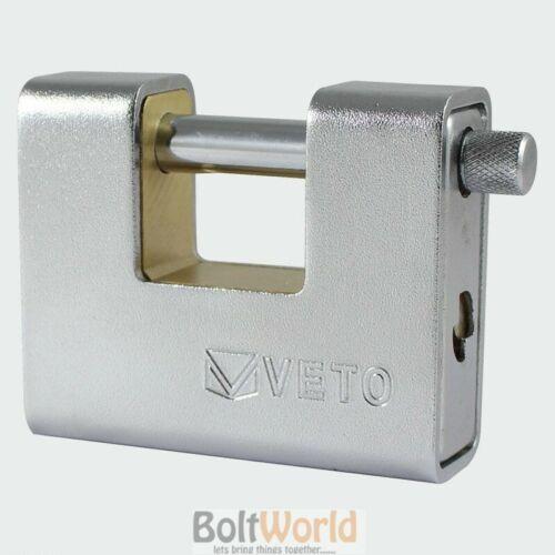 90 mm veto blindés rectangulaire cadenas Heavy Duty Cadenas Lock shutter chaîne